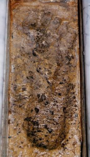 c6f9040c0 أثر قدم الرسول (صلى الله عليه وآله وسلم) في جامع الكريمية بحلب الصورة بعدسة  الباحث